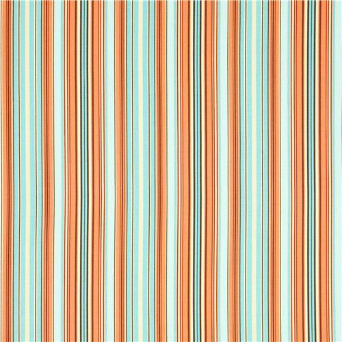 Stripe Fabric Blue Orange Westminster Fibers Oxford 2