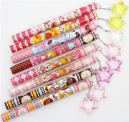 swimmer kawaii pencil girl flowers