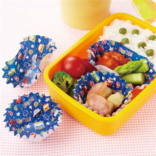 transport vehicles bento lunch box paper cups