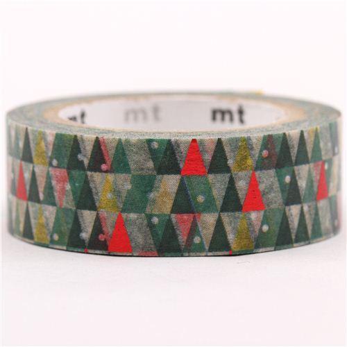 Nastro adesivo decorativo washi alberi di natale mt oro metallizzato nastri adesivi natalizi - Nastri decorativi natalizi ...