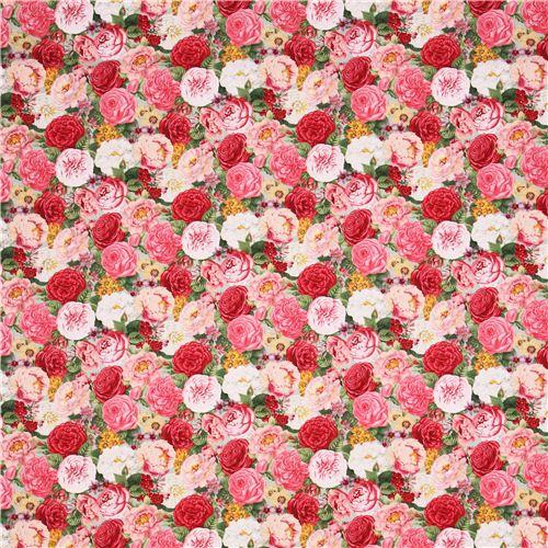 Turquoise Flower Rose Fabric Spring In Paris Elizabeth's