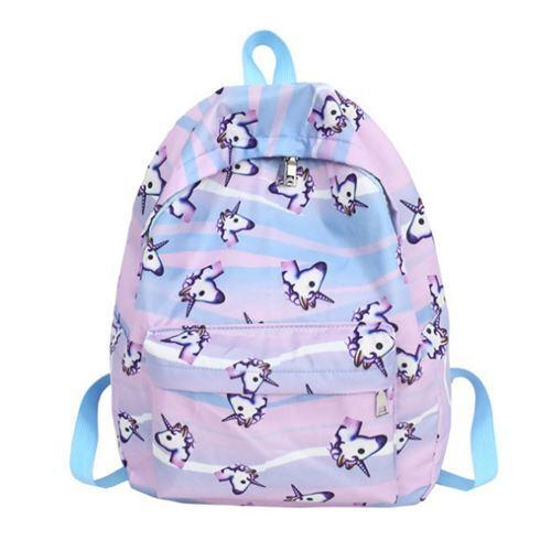 87564765f49c unicorn backpack for school in purple - modeS4u Kawaii Shop