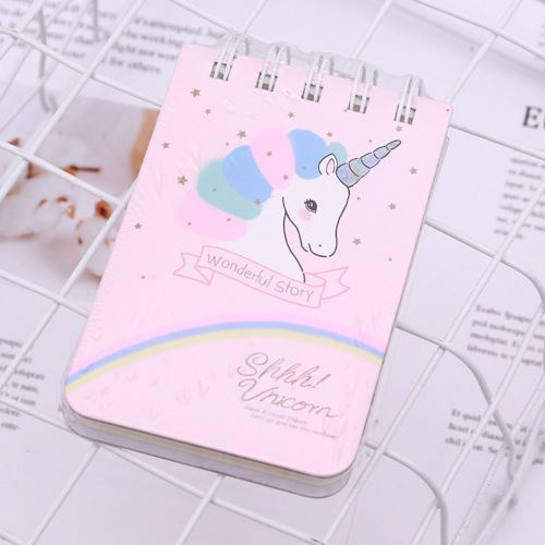 Unicorn Ring Binder Notebook In Light Pink