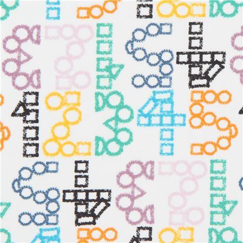 white Art Gallery Fabrics number pattern
