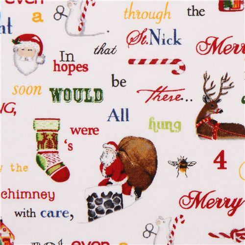 white Christmas fabric Holly Jolly Christmas Robert Kaufman ...