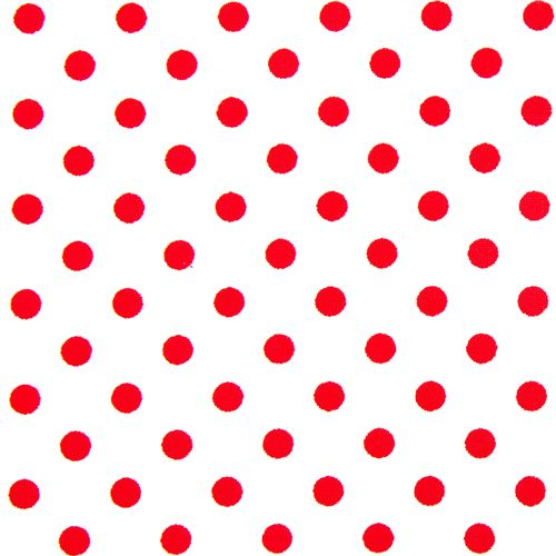 White michael miller fabric small red polka dots dots for Red and white polka dot pattern