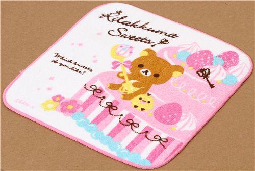 White Rilakkuma Sweets Towel Bear With Cake