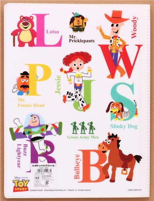 White Toy Story Letters Abc 10 Pocket A4 A3 File Folder