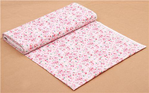 weiß-rosa Blumen Stoff mit vielen BlütenTimeless Treasures USA ...