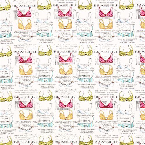 dae212584c white brassiere bra underwear fabric Timeless Treasures - Kawaii ...