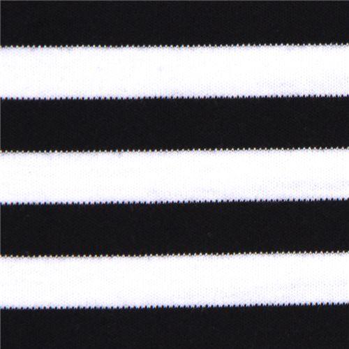 whiteblack stripes knit jersey fabric michael miller 1
