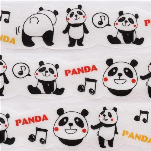 white die,cut panda paper Masking Tape deco tape by Japan 1
