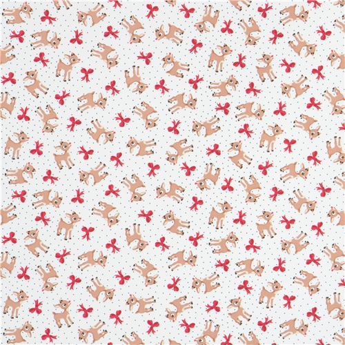 white fabric bow reindeer Christmas Quilting Treasures 3