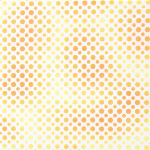 white fabric cute yellow orange dot Quilting Treasures - Dots ...