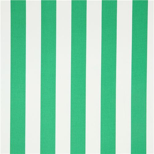 Tela blanca y verde a rayas de Michael Miller de EEUU
