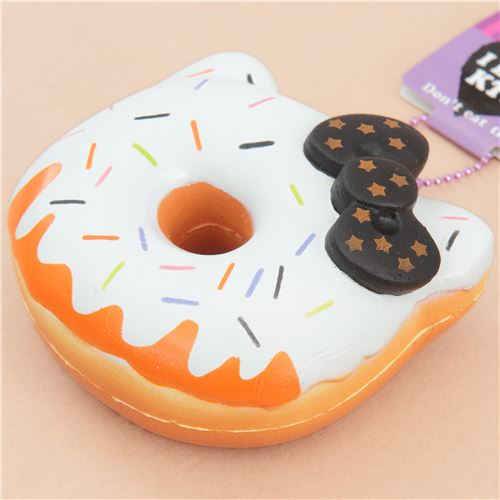 white icing Halloween pumpkin Hello Kitty donut squishy charm ...