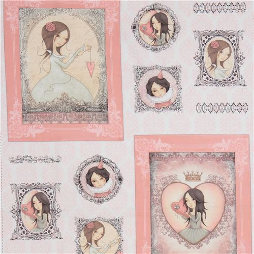 Tissu Gorjuss Quilting Treasures Blancrose Enfants Cadres Photo