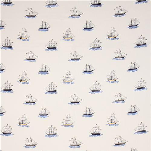 Maritime Stoffe weißer maritimer segelschiff stoff michael miller maritime stoffe