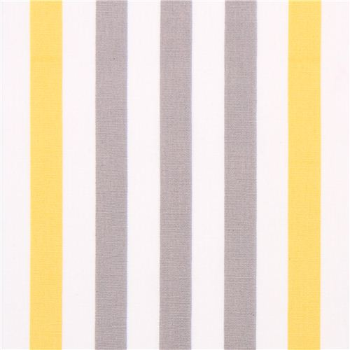 white monaluna yellow-grey stripes organic fabric stripe - Dots ...