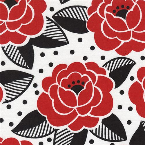 White red flower black leaf dot fabric by timeless treasures white red flower black leaf dot fabric by timeless treasures 1 mightylinksfo
