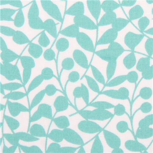 White Turquoise Branch Twigs Pattern Cloud 9 Organic