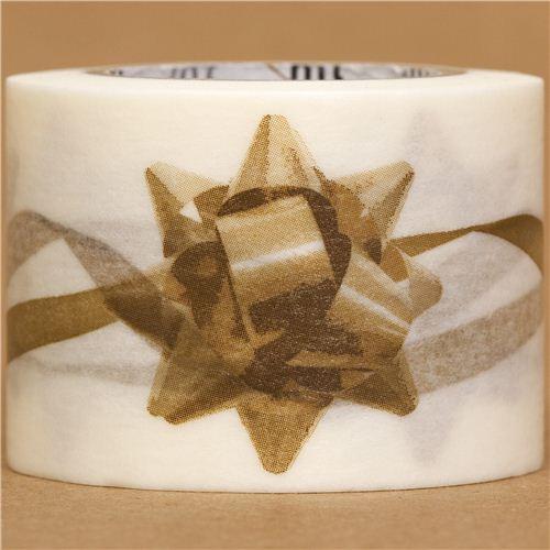 Nastro adesivo decorativo washi con coccarda dorata mt nastri adesivi natalizi nastri - Nastri decorativi natalizi ...
