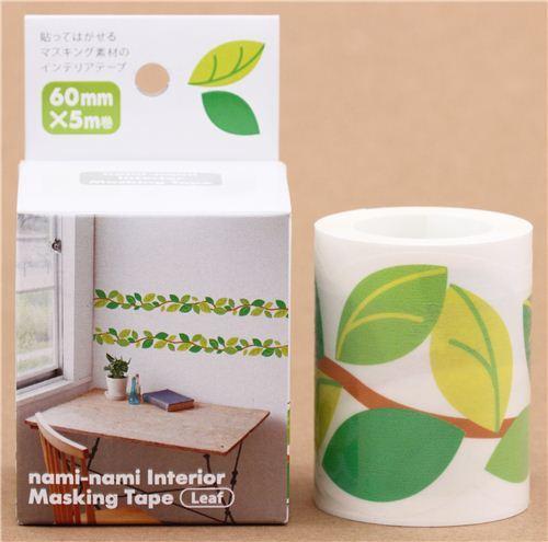 breites bl tter ast masking tape wand klebeband aus japan blumen klebeband klebeb nder. Black Bedroom Furniture Sets. Home Design Ideas