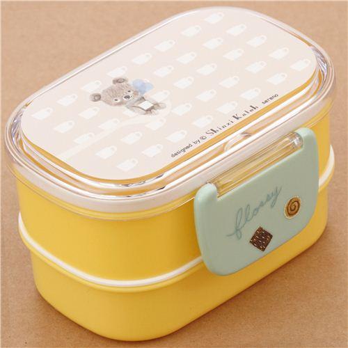 gelbe flossy bear teddyb r tasse bento box brotdose aus. Black Bedroom Furniture Sets. Home Design Ideas