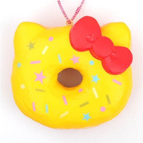 800f99be0 yellow colorful star shape Hello Kitty donut squishy charm - modeS4u