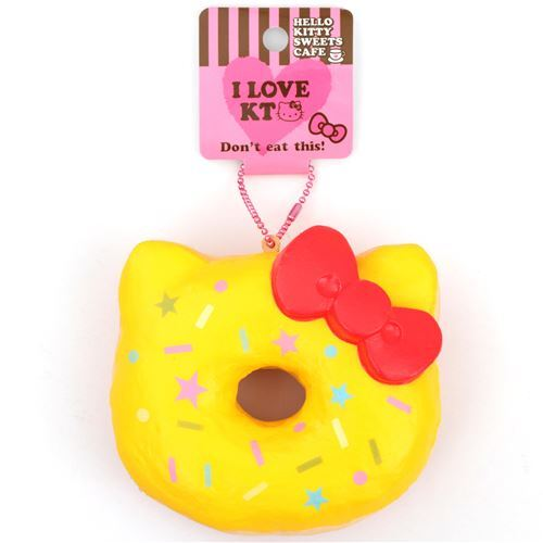 Yellow colorful star shape hello kitty donut squishy charm - Cuisine hello kitty ecoiffier ...