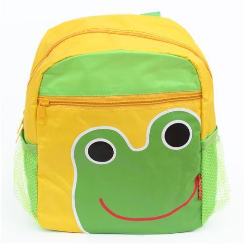 yellow green frog childrens backpack school bag - modeS4u Kawaii Shop cda7325d03