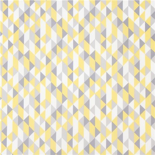 Yellow Grey Shap Laminate Organic Fabric By Cloud 9 Simpatico 2
