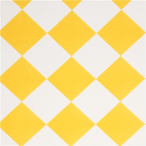yellow white checkered Michael Miller fabric from the USA - Dots ...