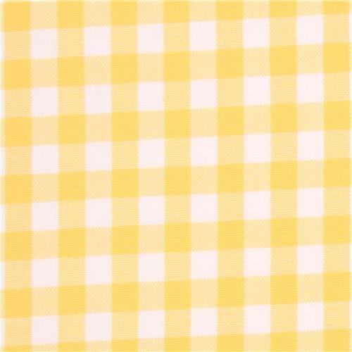 yellow white checkered robert kaufman fabric carolina gingham dots