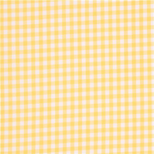 yellow white checkered Robert Kaufman fabric Carolina Gingham - Dots ...