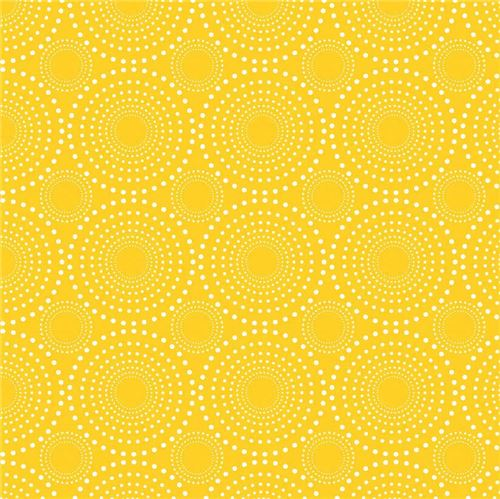 yellow white dot circle knit fabric Riley Blake Exclusive Knits ...